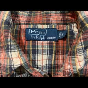Men's Polo flannel shirt size small